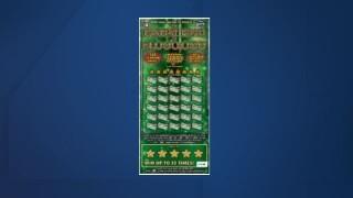 Lottery scratch-off winnner