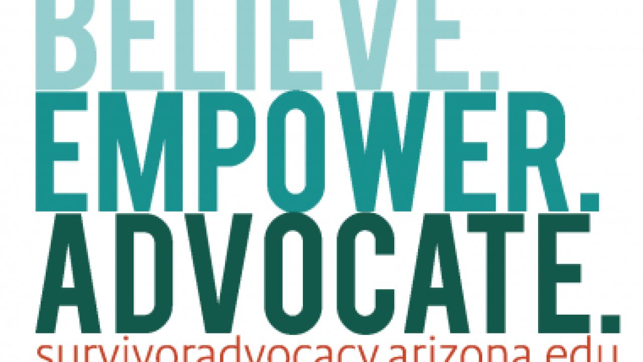 Survivor Advocacy Sticker at UA