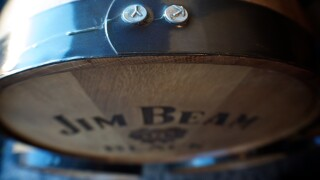 Jim Beam barrel
