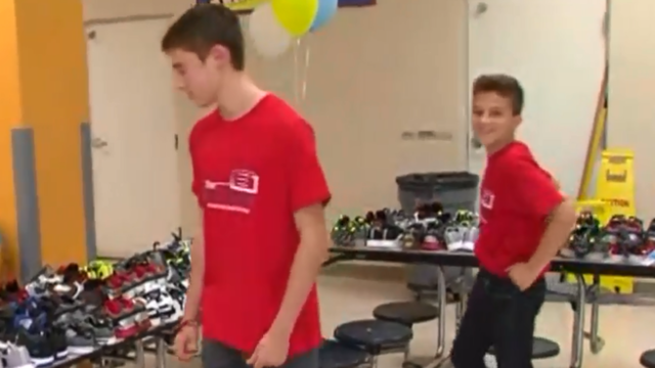 Two brothers on a mission to help other kids get ready for school