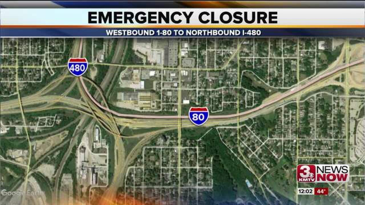 Emergency work on I-80 Thursday afternoon