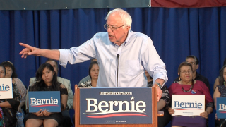 Bernie Sanders in Vista, Calif.