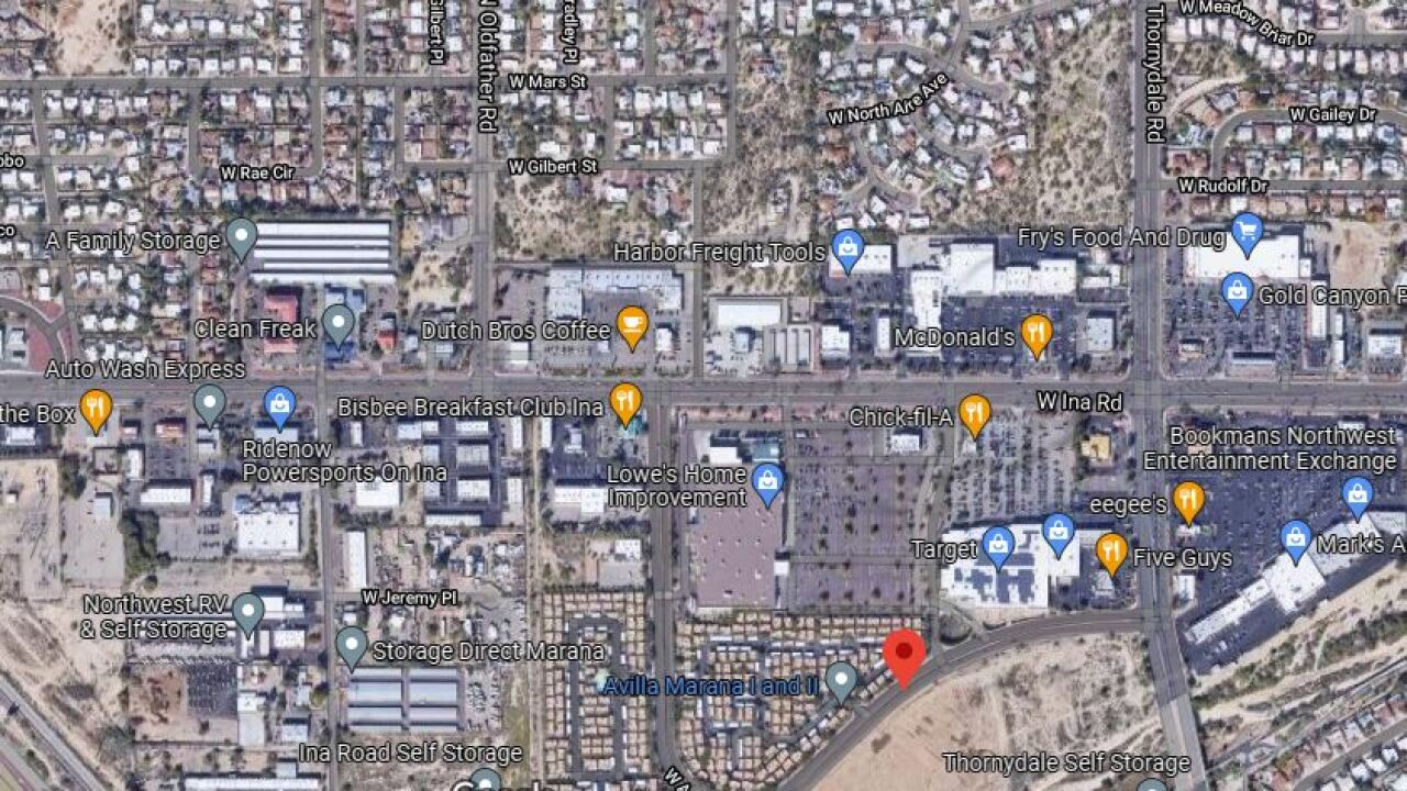 Marana police say the death of a man found in a wash is suspicious.