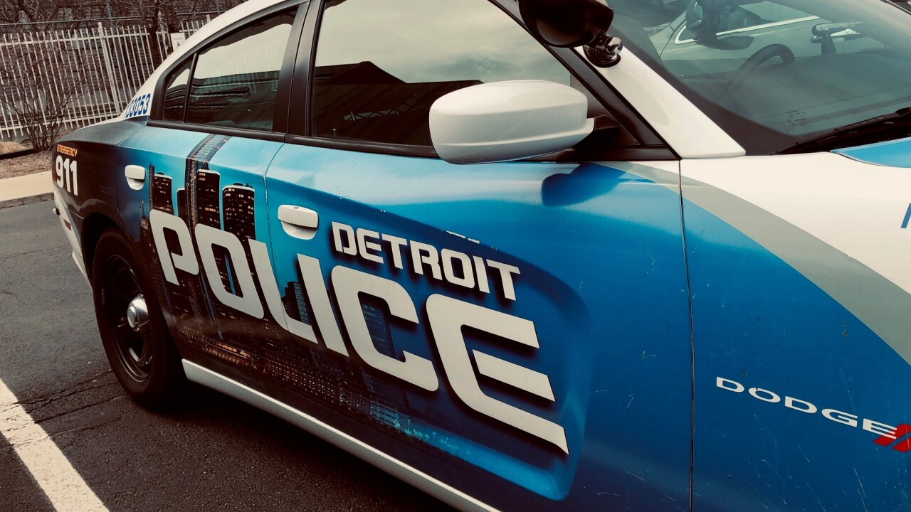 Detroit police vehicle
