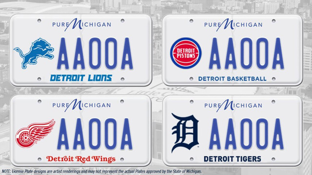 Detroit sports teams push to get their logos on Michigan license plates