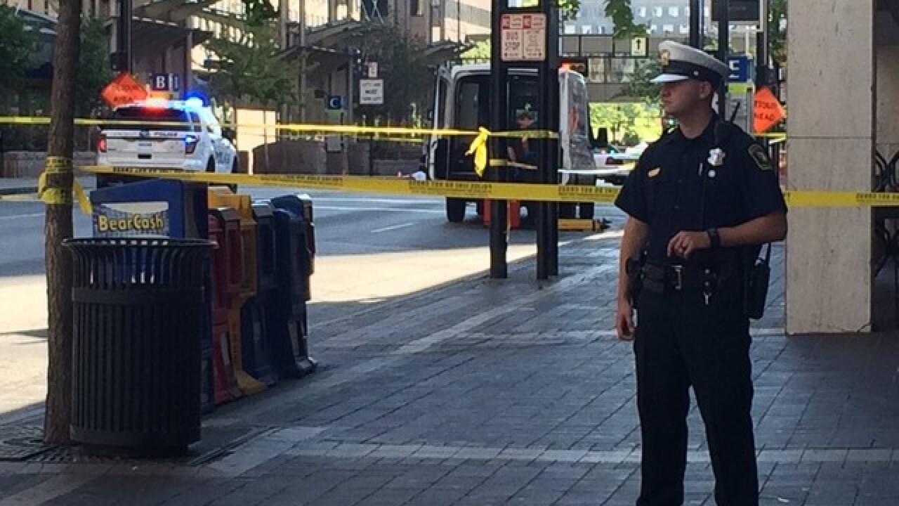 Cincinnati officer shoots suspect Downtown