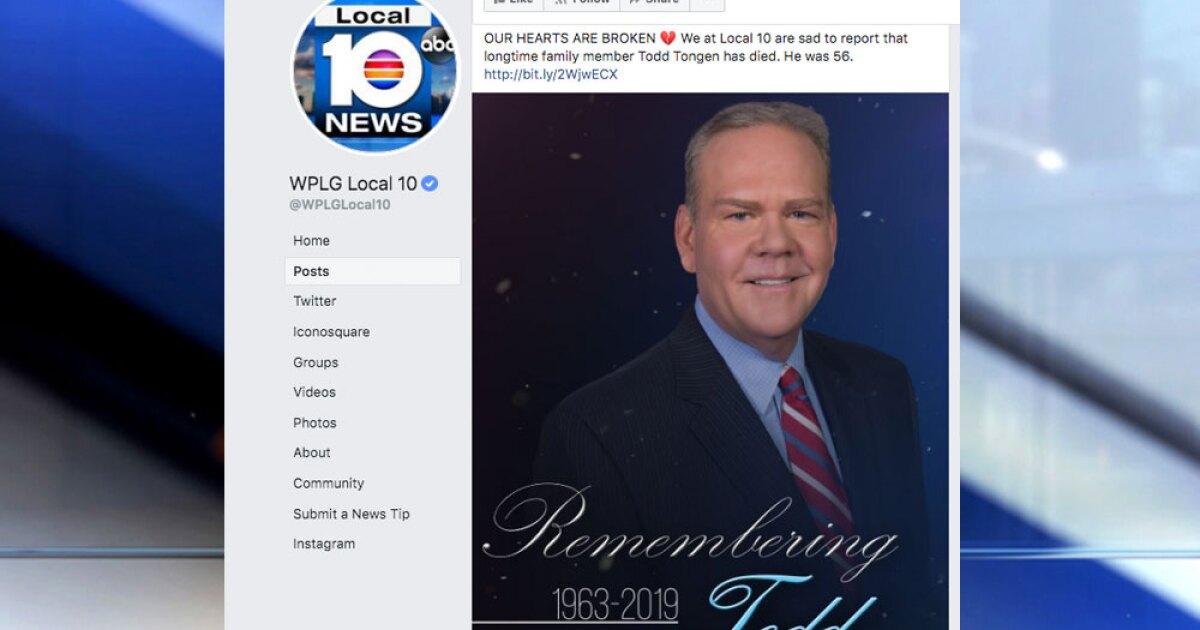 Wplg Miami News Anchor Todd Tongen Dies At 56