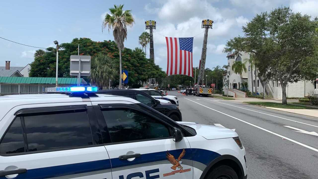 St. Petersburg Police pay tribute to Officer Michael Weiskopf