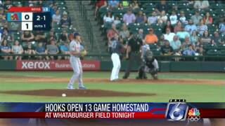 Hooks kick off 13-game homestand with game against Frisco