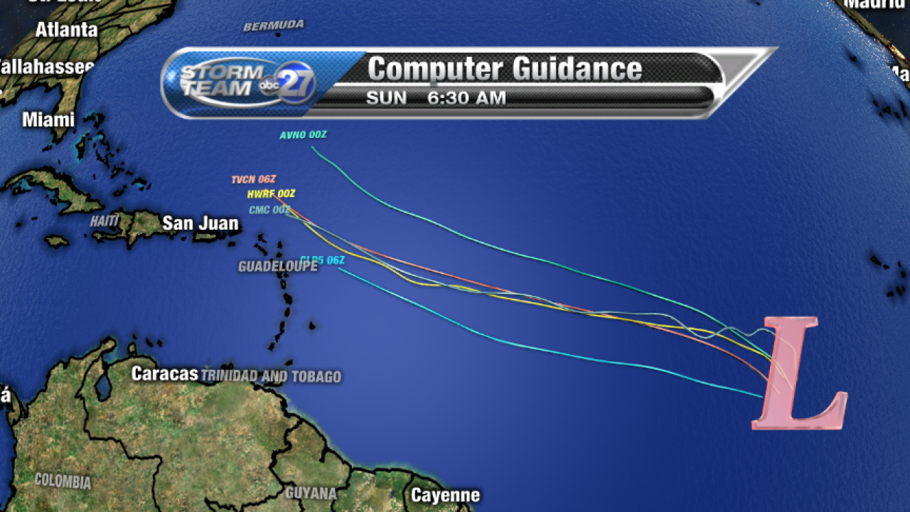 Invest 94L Computer model guidance