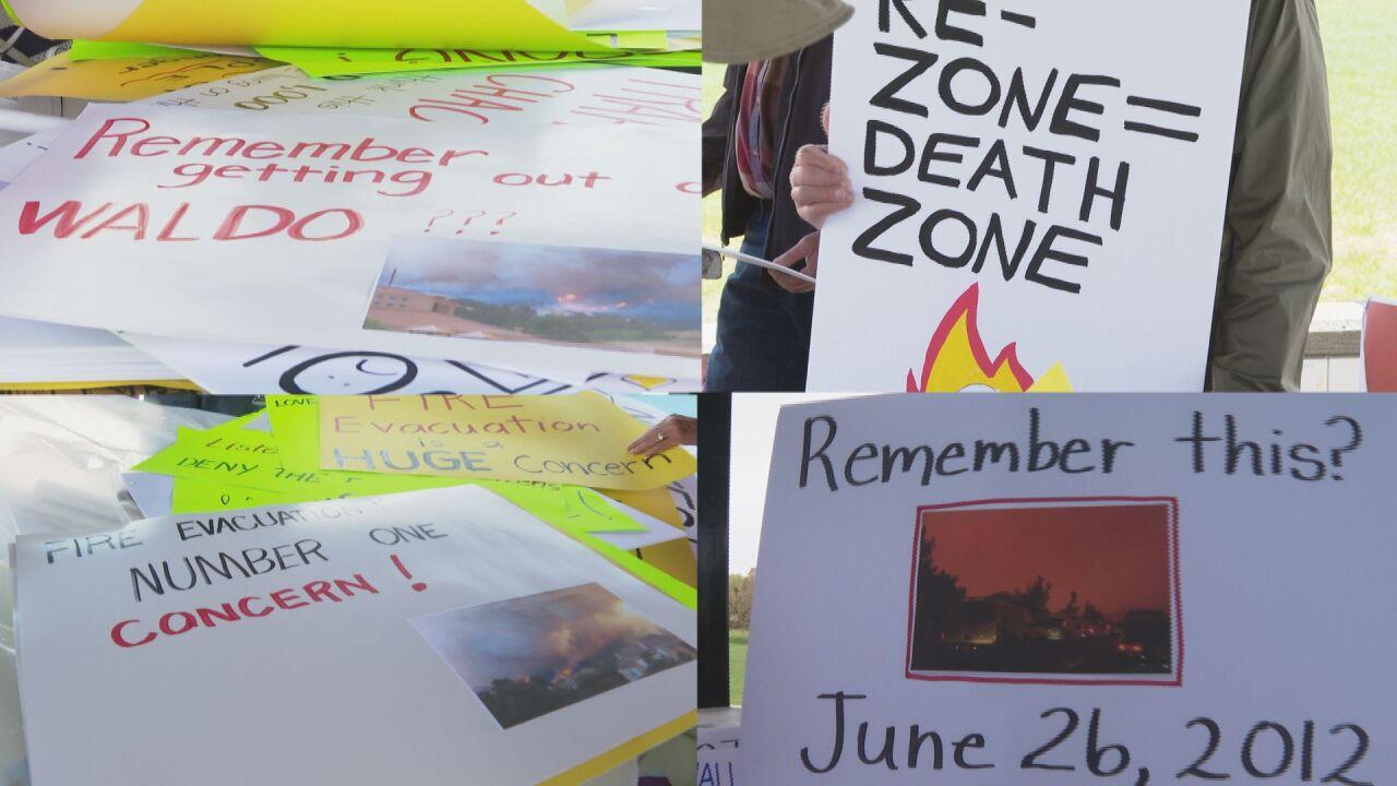 Wildfire evacuation concerns a key reason Mountain Shadows neighbors protest development proposal