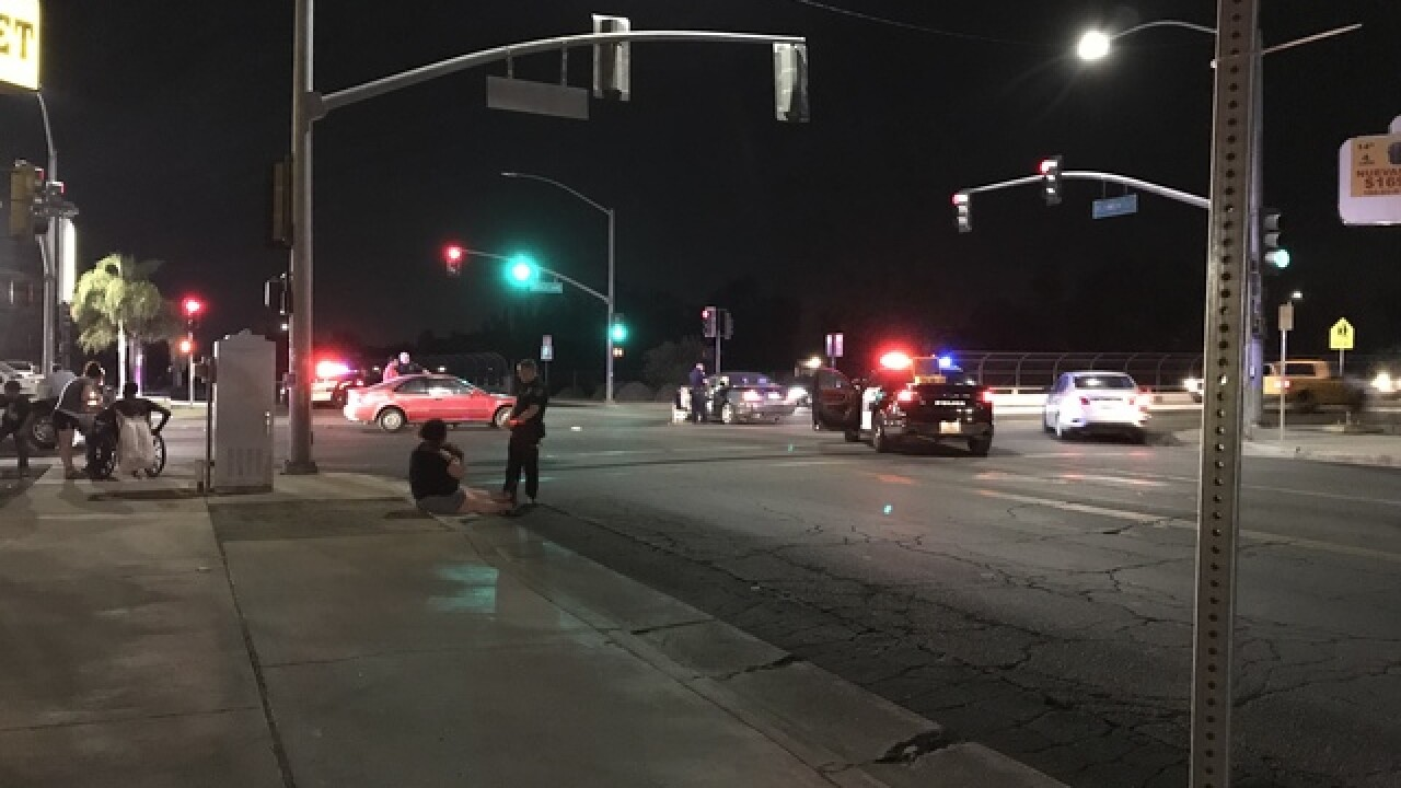 Two women hit by vehicle in east Bakersfield, person who stopped to help arrested for DUI