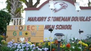 """Project Grow Love,"" a community garden outside Marjory Stoneman Douglas High School in Parkland"