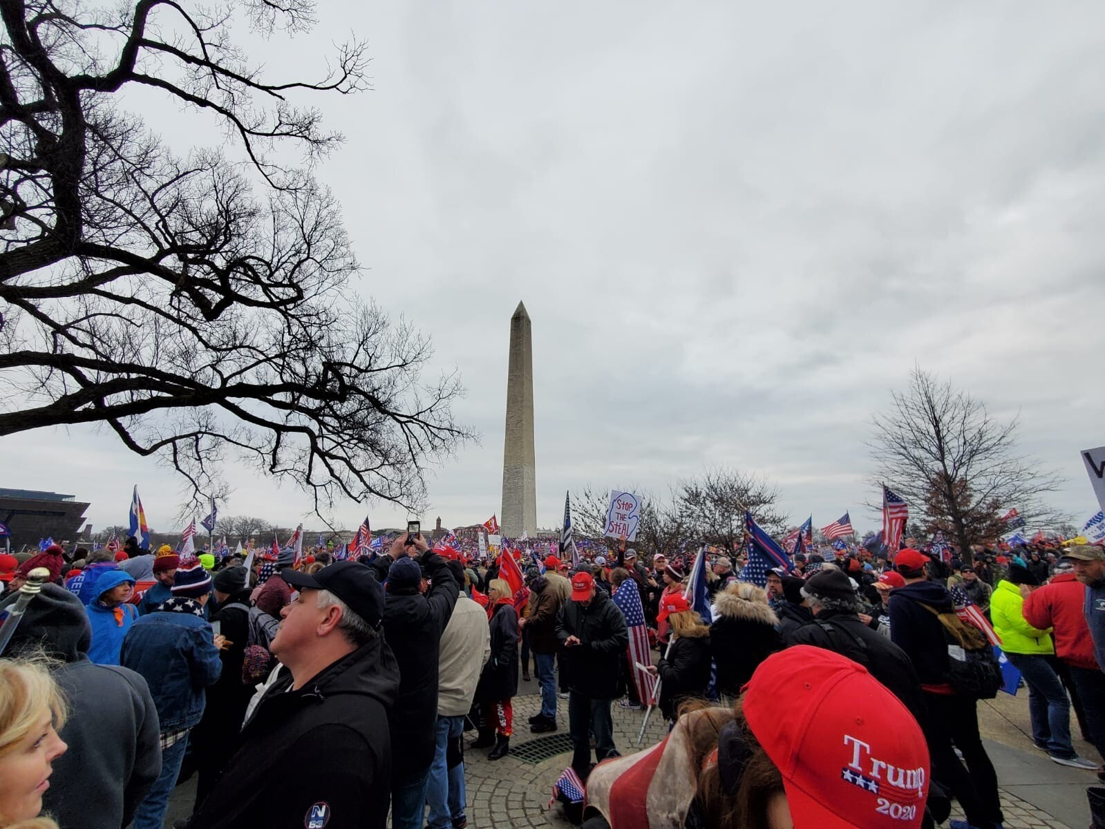 Supporters of President Trump from South Florida and Treasure Coast traveled to the nation's capital on buses to partake in demonstrations Jan. 6, 2021, ahead of certification of Joe Biden's presidential victory in the Electoral College.