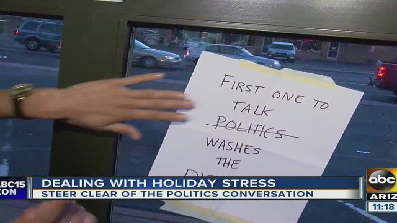 Tips on how to deal with holiday stress