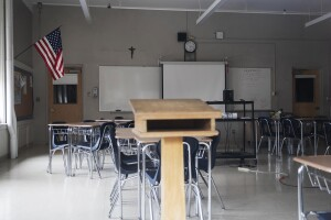 Empty classroom covid-19