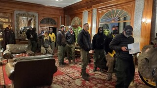Firefighters at the Stanley Hotel