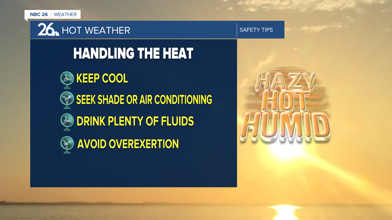 Tips to stay hydrated and safe in the high heat.