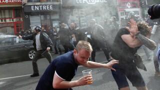 Euro 2016: Tear gas used on English soccer fans