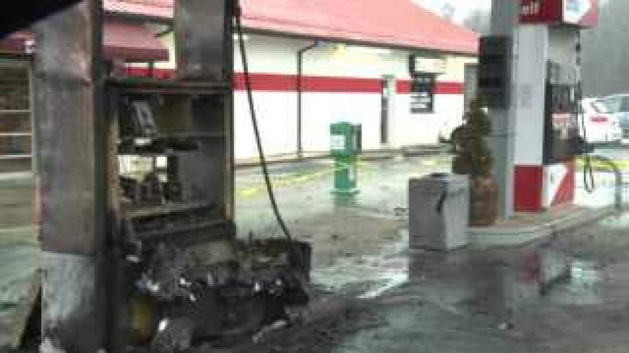 Static electricity may be to blame for gas station fire
