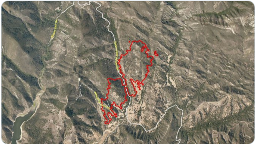 Lopez Lake Fire map updated Sunday morning by CAL FIRE