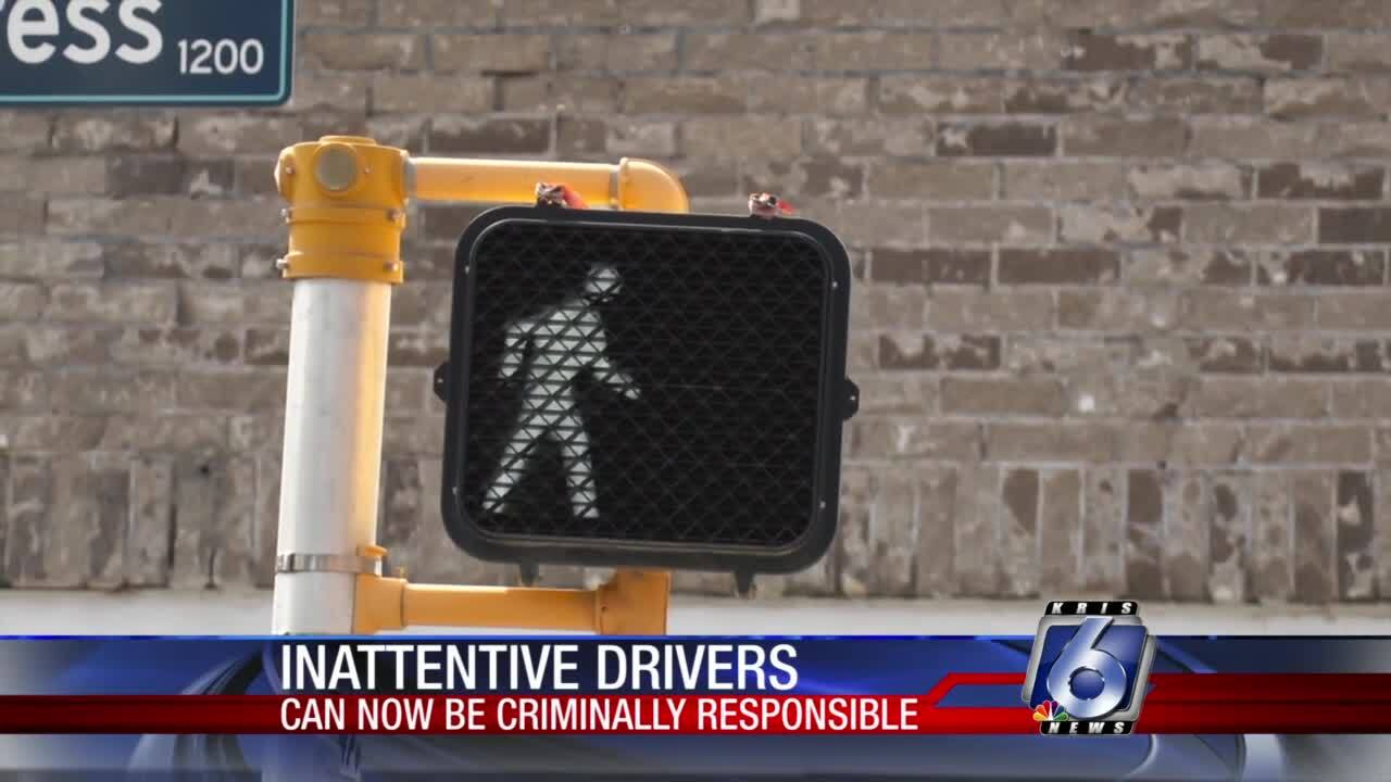 Stiffer penalties now in place for distracted drivers who hurt pedestrians