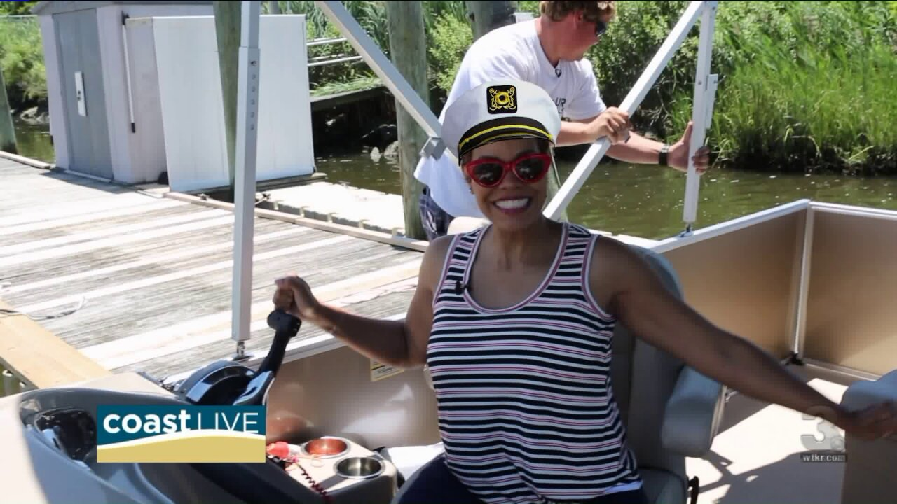 April is on a boat for a Father's Day surprise on Coast Live
