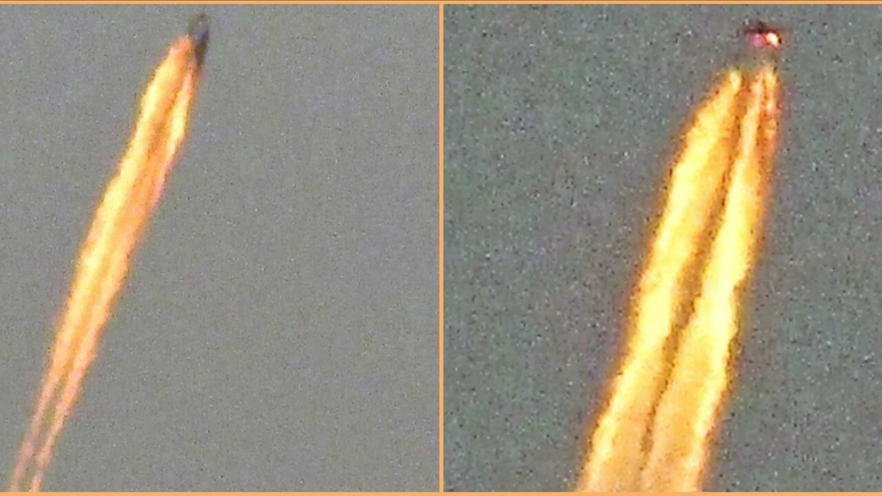 Mysterious object with trail of fire spotted along Florida coast