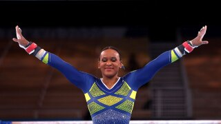 Rebeca Andadre wins silver in All-Around, Brazil's first women's gymnastics medal