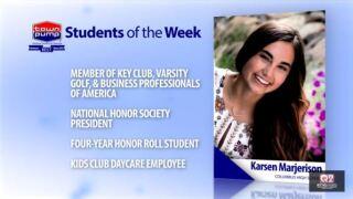 Students of the Week: Marissa Peters and Karsen Marjerison of Columbus High School