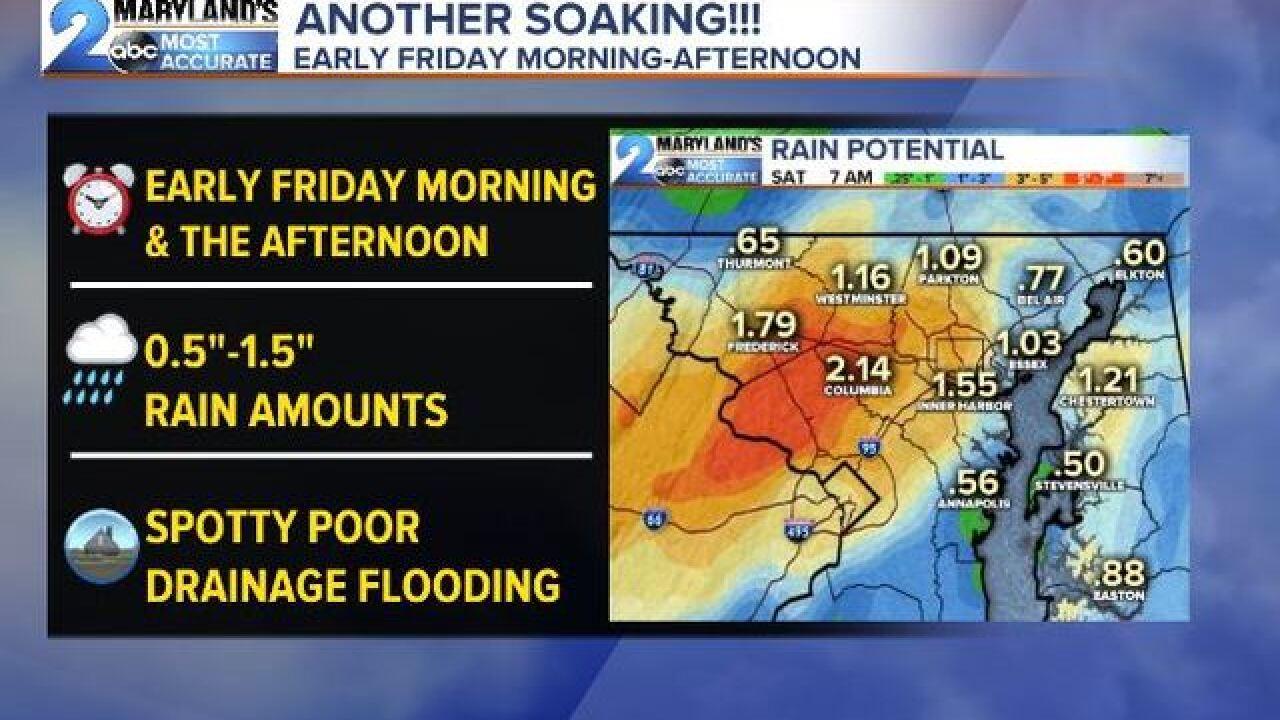 SOGGY FRIDAY: Another Soaking Rain