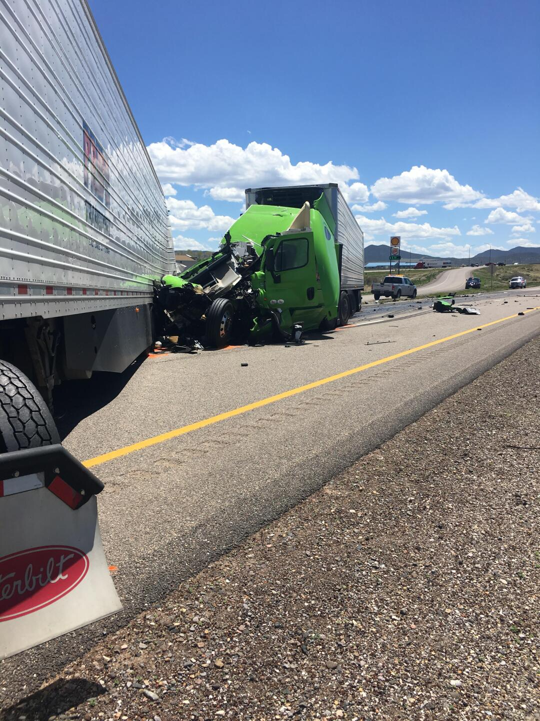 Photos: One flown to hospital after 3-vehicle crash on I-15 nearbeaver