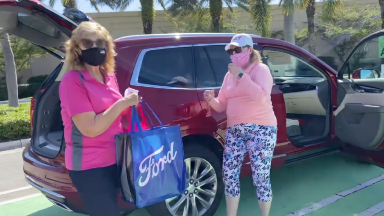 Komen is hosting a curbside packet pick-up for people who have registered for the virtual Komen Race for the Cure, which is Saturday, January 30th.