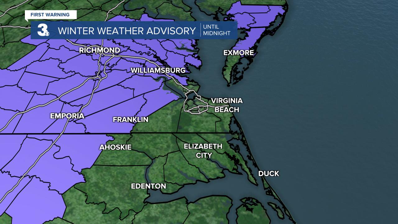 Winter Weather Advisory until midnight