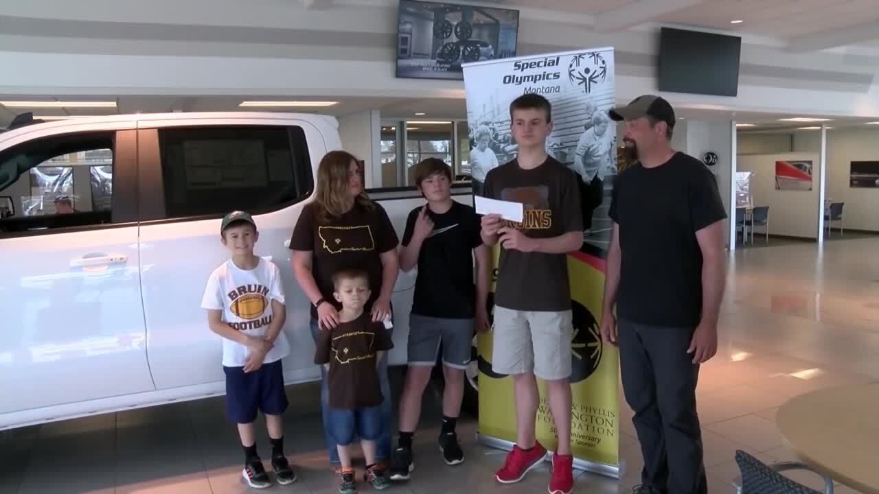 Pickup truck raffle delights winner, and helps Special Olympics Montana