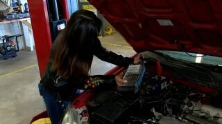 woman mechanics