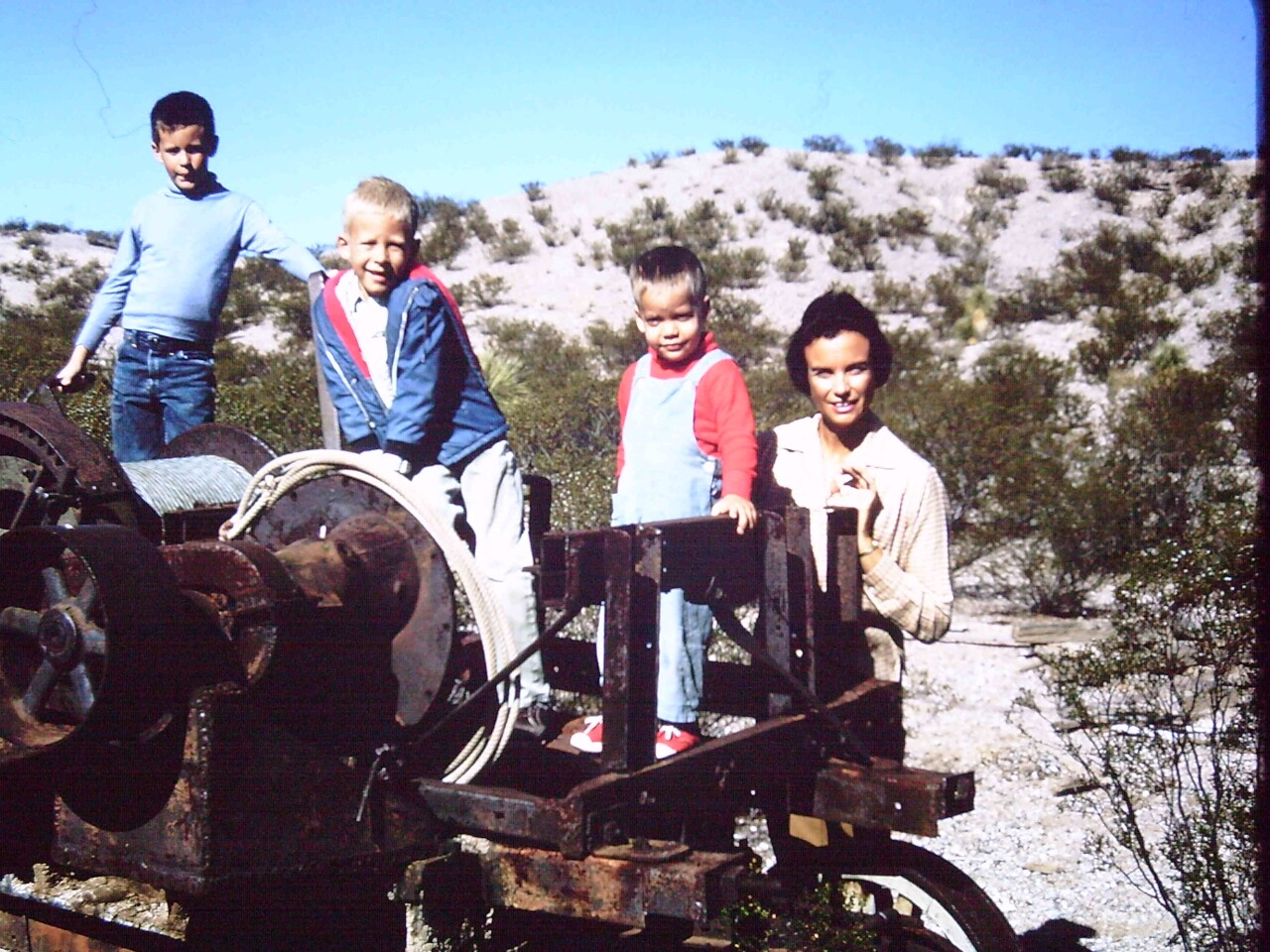 Sandra Day O'Connor and her boys on the ranch where she grew up