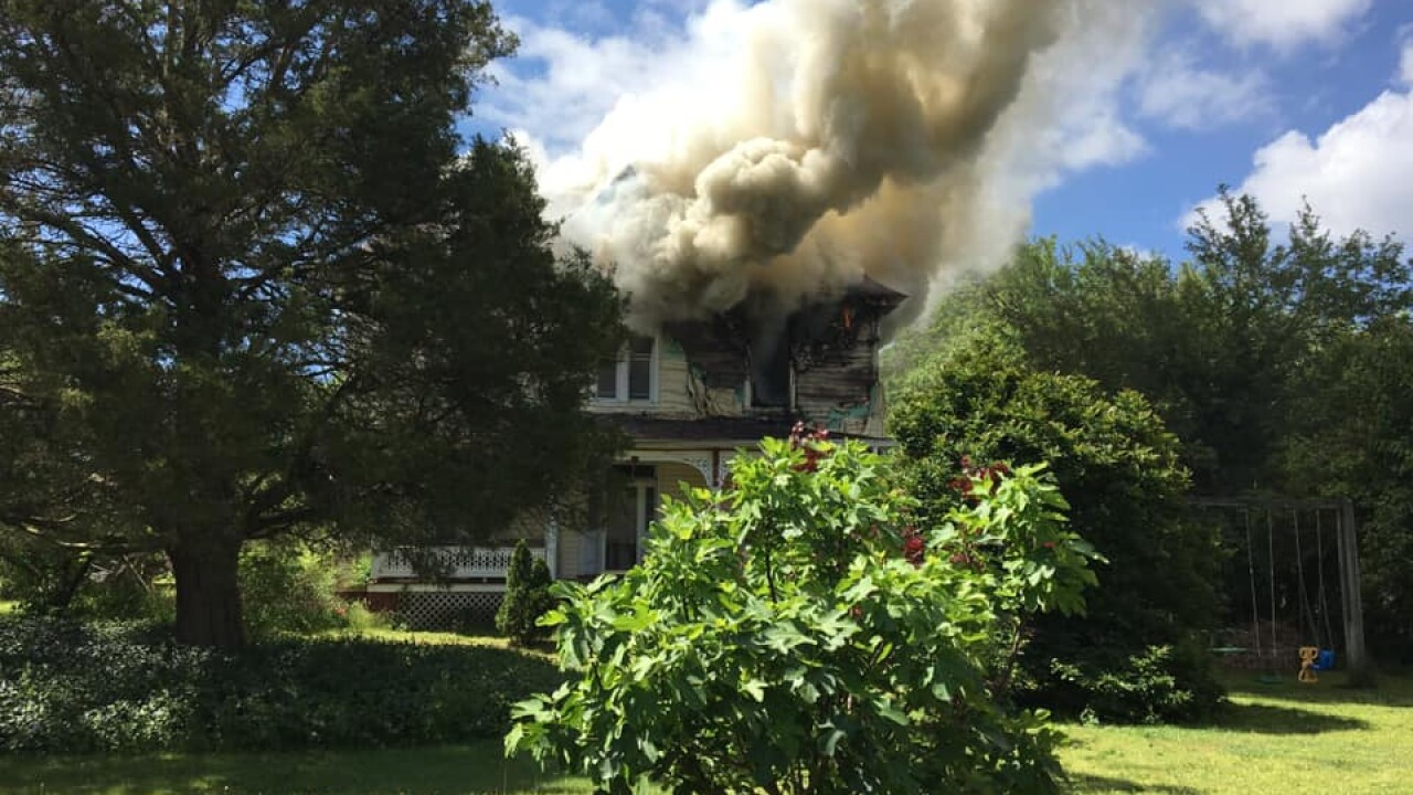 Accomack Co. fire stations battle 3-story house fire