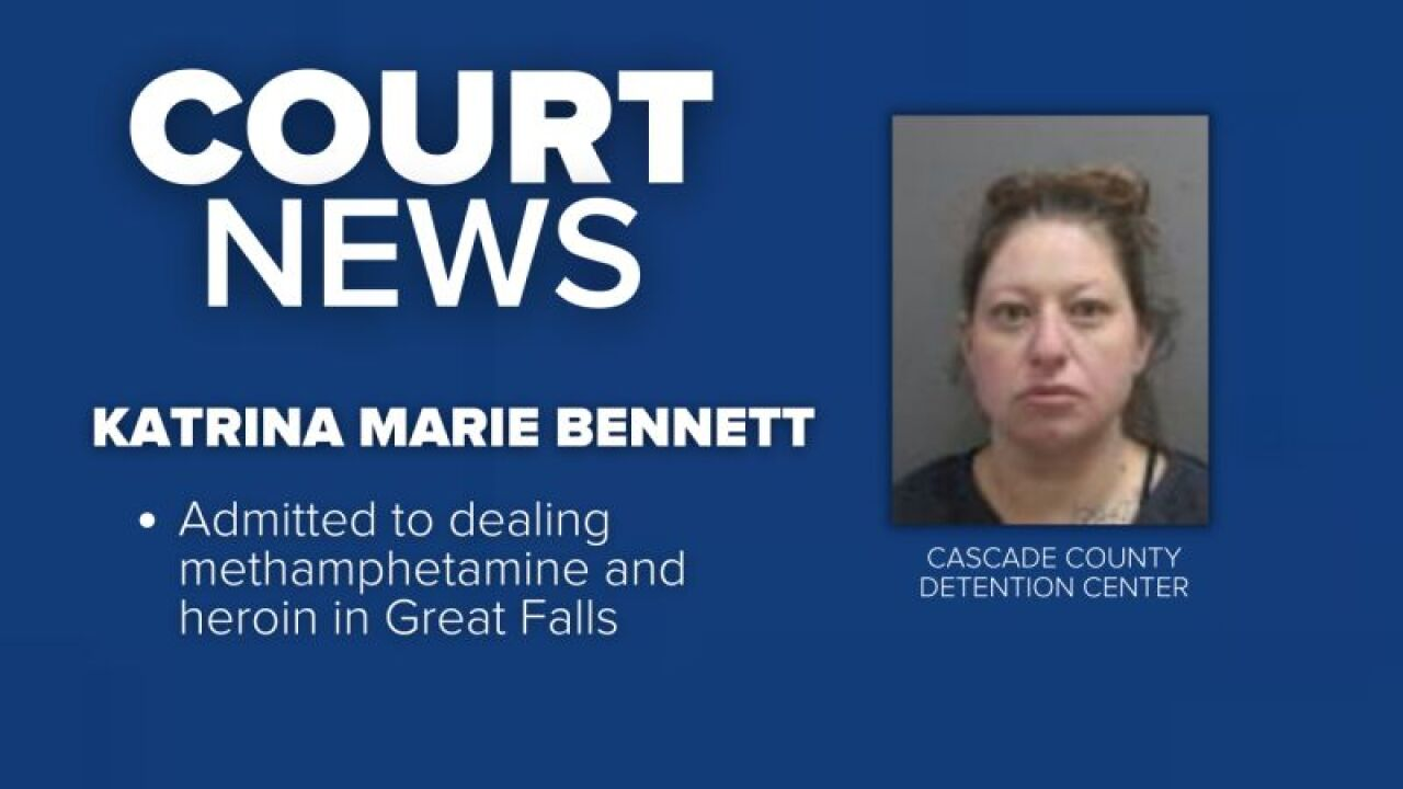 Katrina Marie Bennett, who admitted to dealing methamphetamine and heroin, was sentenced in federal court in Great Falls