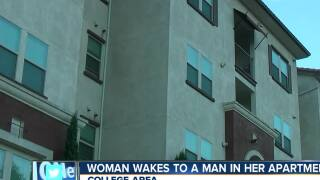 Woman wakes to man in her apartment
