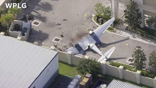 small plane crash near Park Road in Pembroke Park