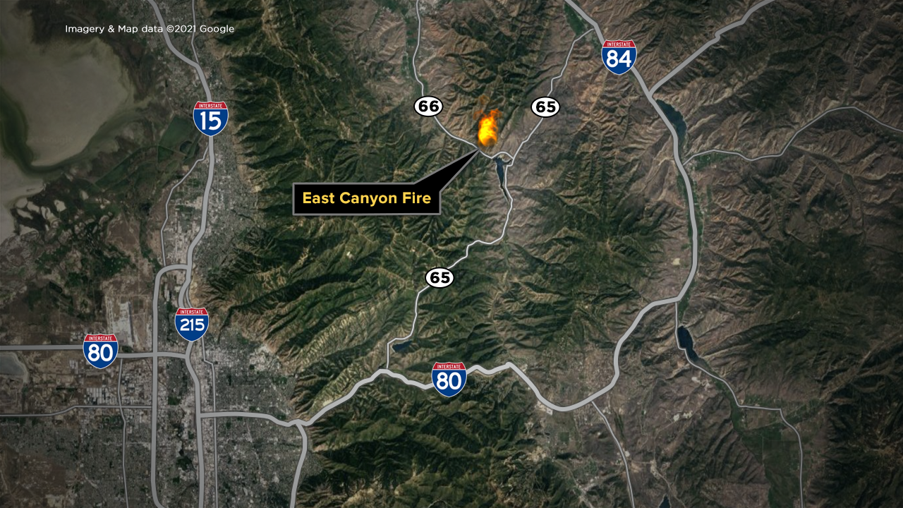 East Canyon Fire Map