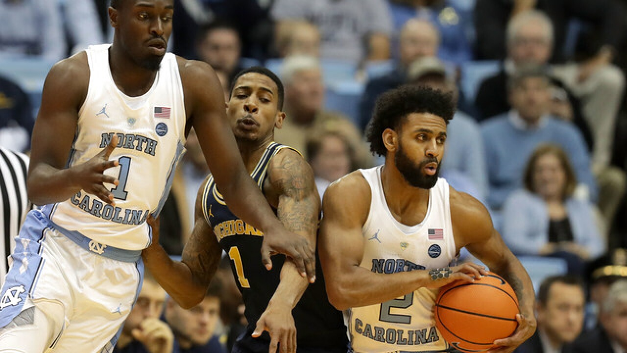 No. 13 UNC beats Michigan 86-71 in Big Ten/ACC Challenge