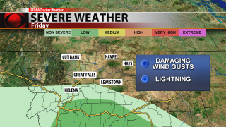 Severe weather stays south of us Friday