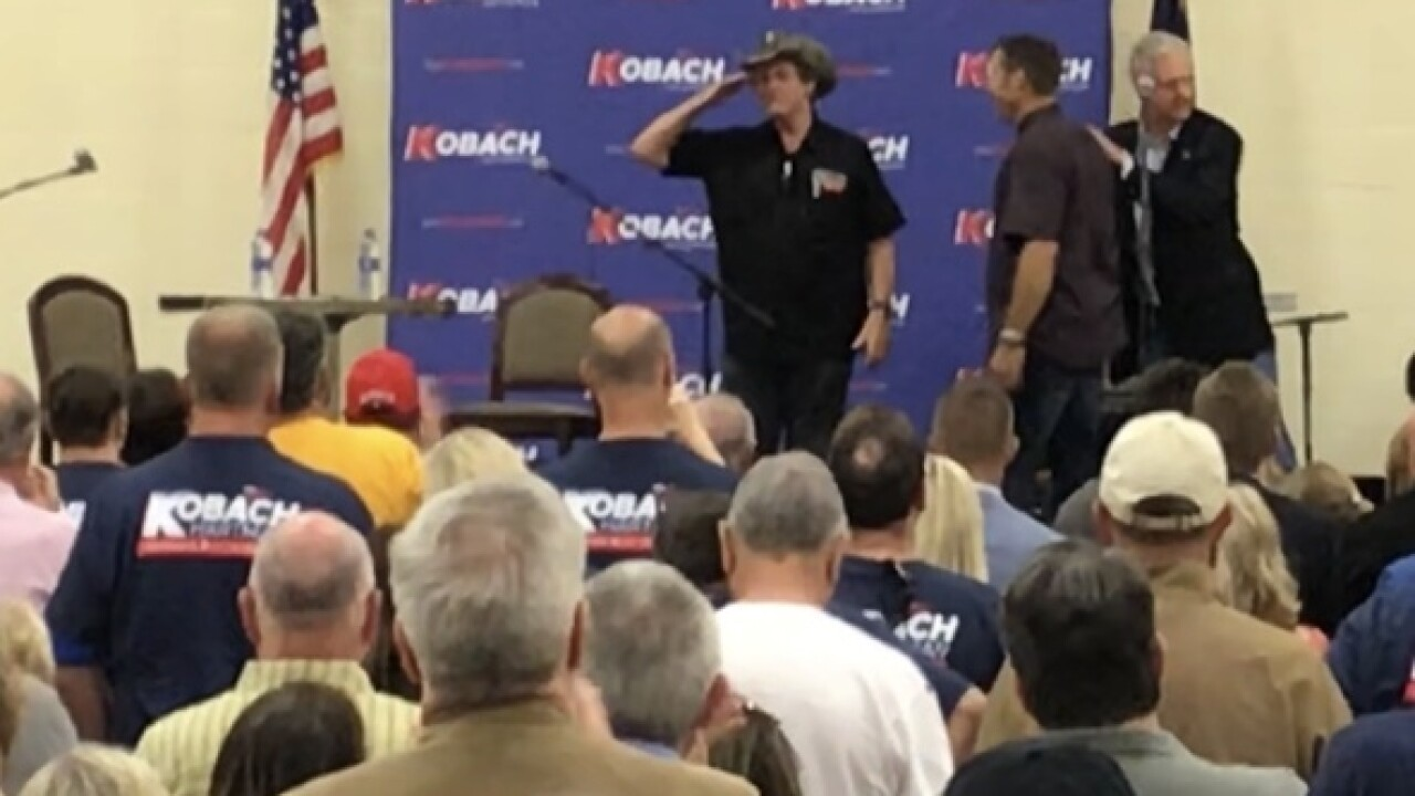 Ted Nugent lends hand to Kobach's gov campaign