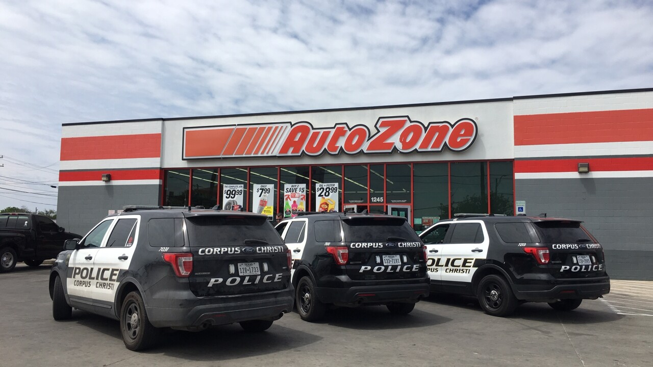 Police respond to robbery at automotive store