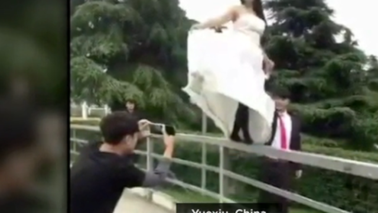 Video catches embarrassing wedding fails