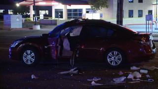 2-car crash at Hayden and Thomas roads