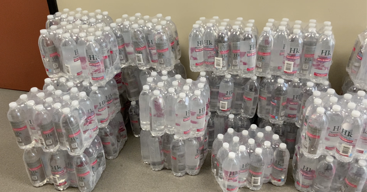 Humankind delivered 36 cases of water to the City Rescue Mission of Lansing