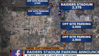 Raiders stadium parking plans look at off-site options